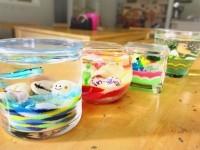ジェルキャンドル体験☆ガラスの小物は種類が豊富♪好きな組み合わせでオリジナルの作品に!
